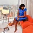 Omotola Makes First Outing Since Vacation at pampers distribution convention