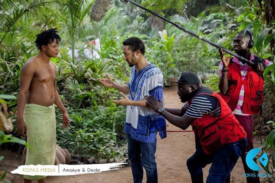 Behind the scene of 'Amakye & dede' movie