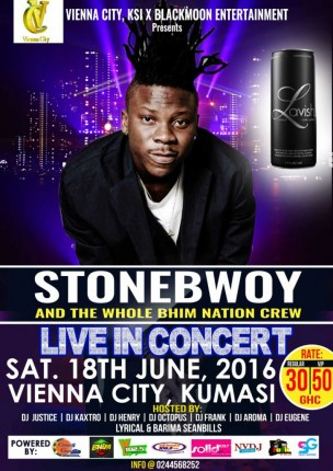 Stonebwoy and the Bhim Nation to rock Vienna City in Kumasi