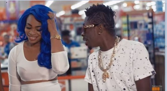 Shatta Wale and his wife