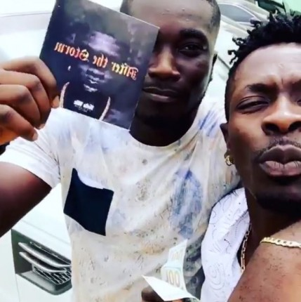 Shatta Wale and the fan