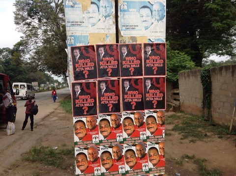 Posters of the late President John Atta Mills