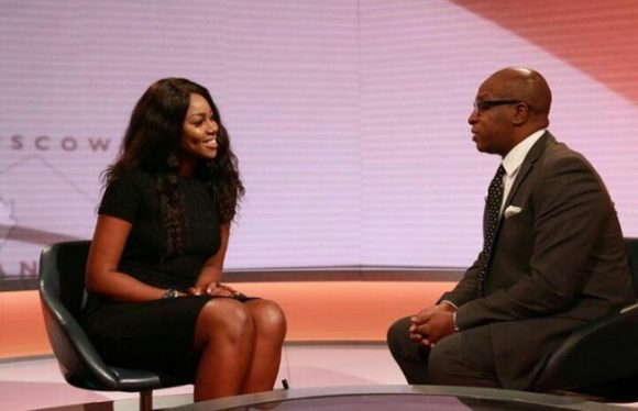 Yvonne Nelson during the BBC Live interview
