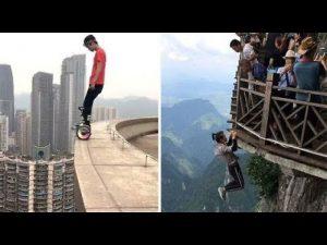 Chinese daredevil death