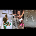 Wizkid buys a customized iced-out gold chain for his third son, Zion (Photo)