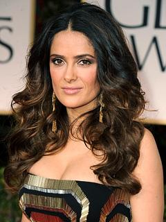 Salma Hayek's Sexy Golden Globes Hairstyle: