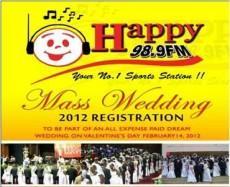 Happy FM Mass Wedding Registration In Process