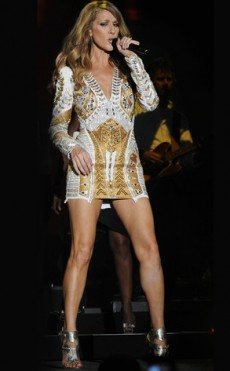 Celine Dion Flashes Panties