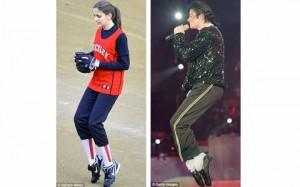 Paris Jackson copies her father's famous dance step on the softtball field