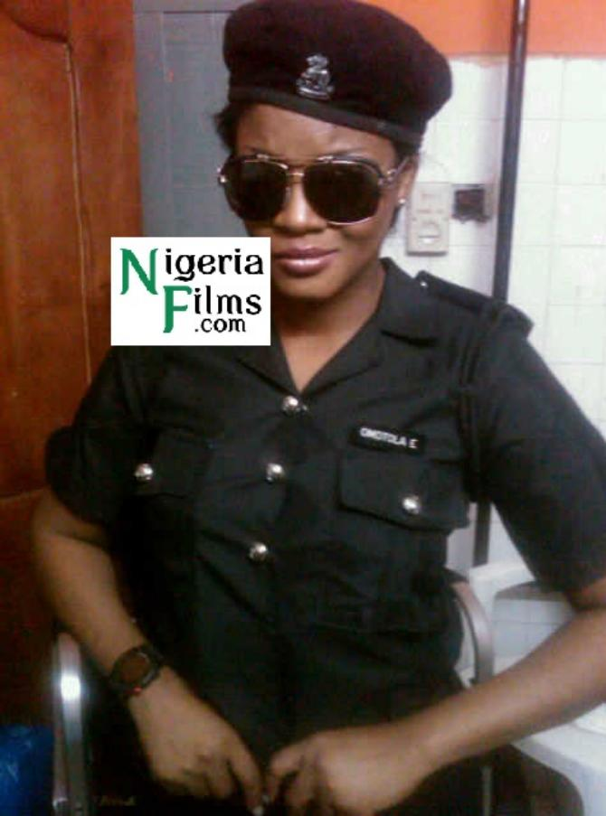 Sultry Actress, Omotola Jalade Now A Police Officer?