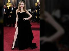 Angelina Jolie's right leg steals the show