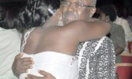 Kwaw Ansah Hugs SHE After Kweiba Premiere