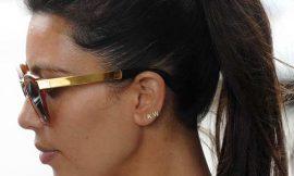 Kim Kardashian Wears Kanye West Ear Rings