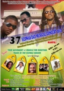 Okyeame Kwame, VIP, Chizzy Wailer And Others For ECOWAS Day Musical Concert