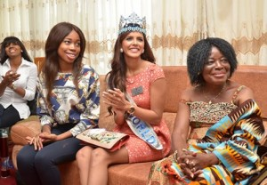 Miss World 2011 And Her Team Tour Ghana