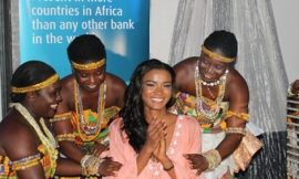 Miss Universe Ends Ghana Tour + Photo With Footballer Adebayor