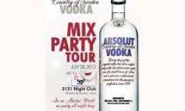 ABSOLUT VODKA MIX PARTY TOUR – 4 EDITION