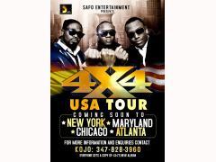Hiplife Trio 4X4 To Tour USA
