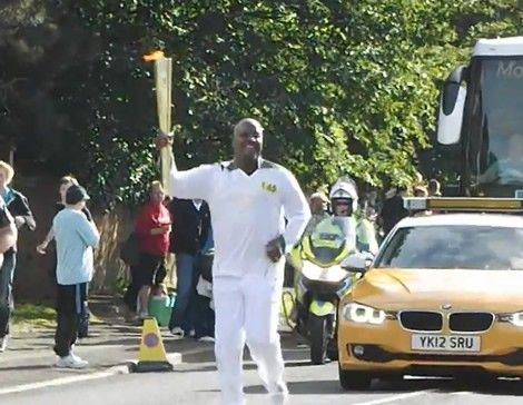 VIDEO: Olympic Torch Relay…Peace Fm's Kwami Sefa Kayi Makes History…