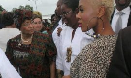 Tiffany Thrills Liberian President