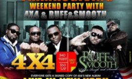 """4X4, Ruff N Smooth For """"Thanksgiving Weekend Party"""" In New York"""