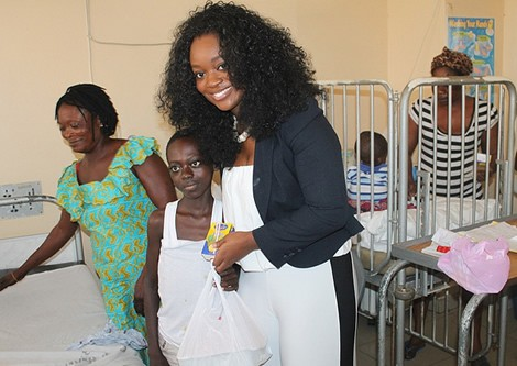 Jackie Appiah Celebrates Birthday At Korle Bu