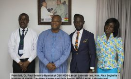 Health Minister commends Okyeame Kwame