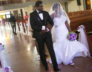 Ghanaian bride wears sneakers on her wedding day