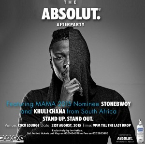 Absolut after party hits Accra August 21