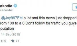 Sarkodie slams Joy FM News