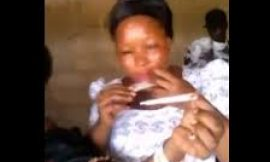 Crazy Video: Ghanaian women smoking 'weed' on camera