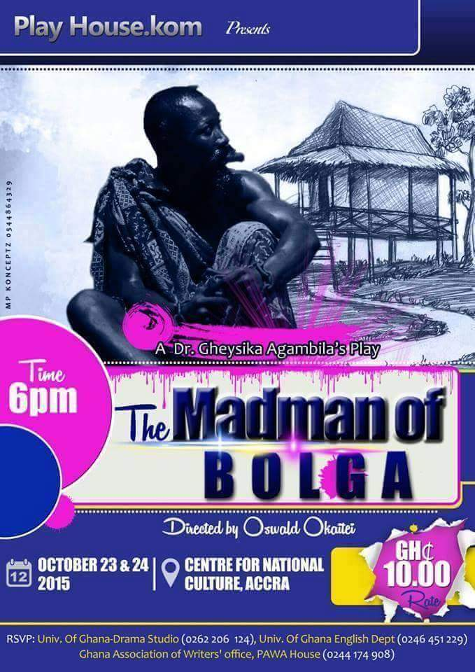 """Arts Centre to come alive with """" The Mad Man Of Bolga"""""""