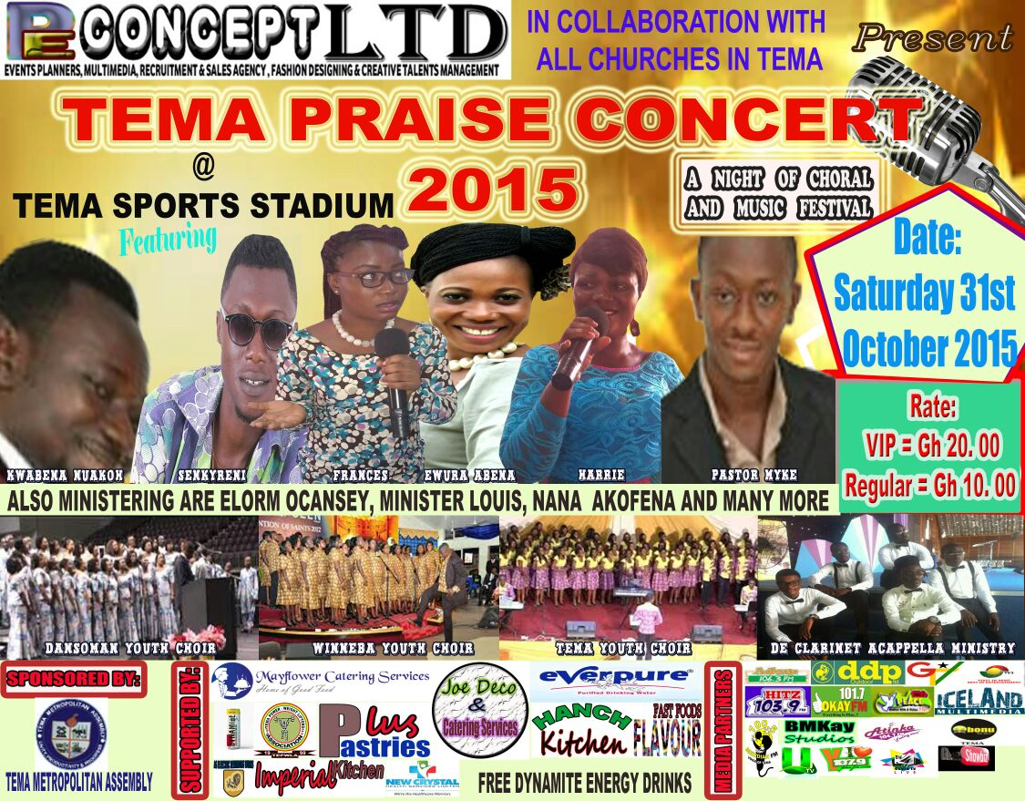 "PE Concept Hosts ""Tema Praise Concert 2015"""