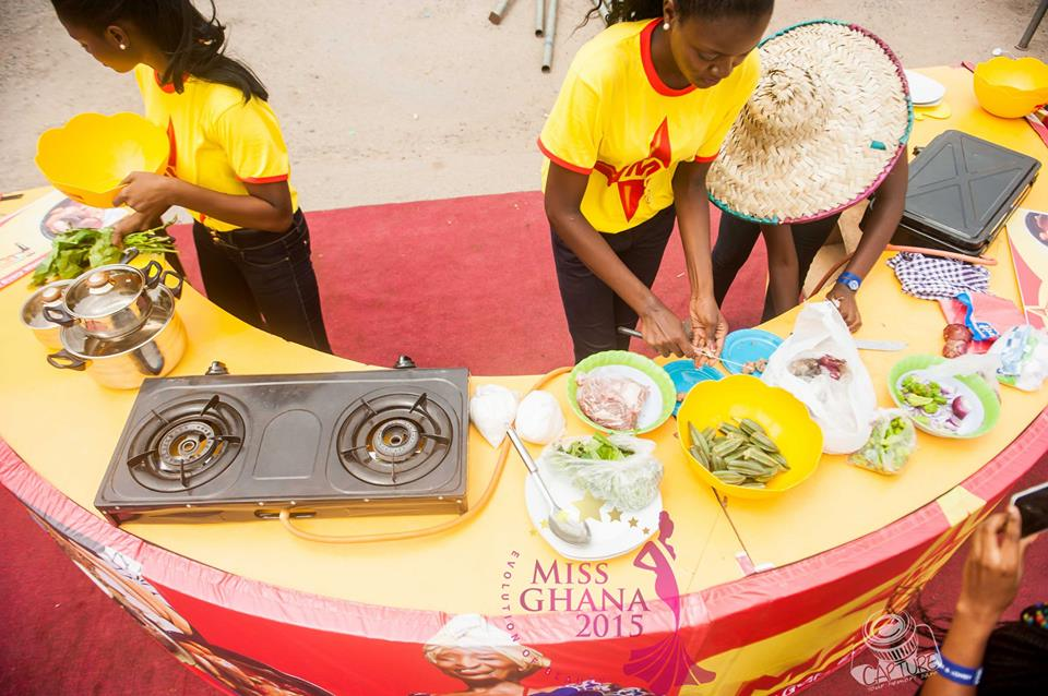 Miss Ghana Delegates Cooking Competition