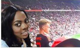Video: Nana Aba finally spotted at Old Trafford