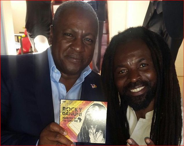 President Mahama supports Rocky Dawuni's sixth album