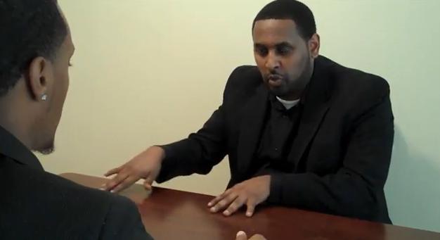 A Nigerian man at an interview