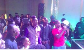 Comedian DKB representing at the party
