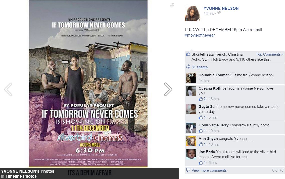 """The re-screen """"If tomorrow never comes"""""""