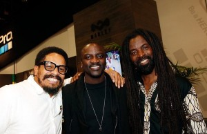 Akon meets Rocky Dawuni at CES 2016 concert for House of Marley. —