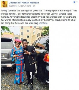 A photo with  Nana Konadu Agyemang-Rawlings|Shatta Wale