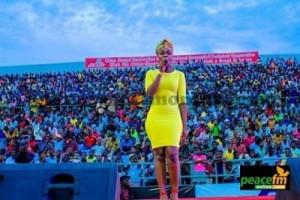 Becca at Cape Coast stadium entertains President Mahama