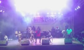 Saani performing at Battle4Peace Concert