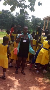 Keteke Ghana on humanitarian trip to Piase and Nyameani