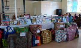 3000 books and pencils to Piase and Nyameani
