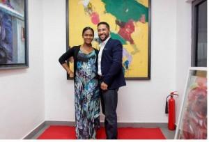 Majid Michel and wife