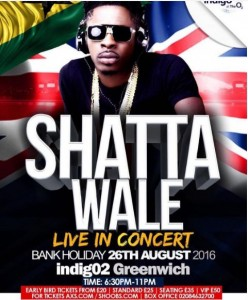 """""""Shatta Wale Live in London Concert""""…. 26 Aug 2016"""
