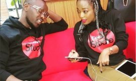 Efya recording with Eddy Kenzo from Uganda