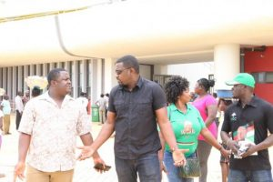 John Dumelo who was addressing NDC supporters
