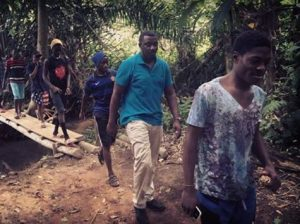 John Dumelo intensifies his campaign tour…….spotted in the hinterlands
